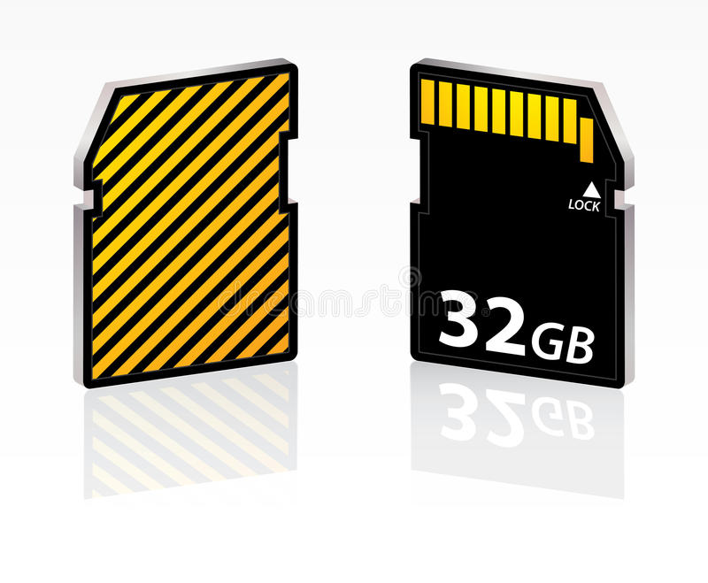 Download Special SD card stock vector. Image of data, equipment - 23856068