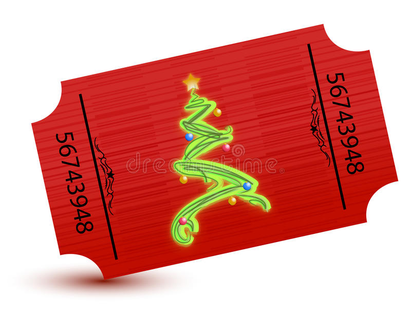 Special Ticket For The Christmas Party Stock Images
