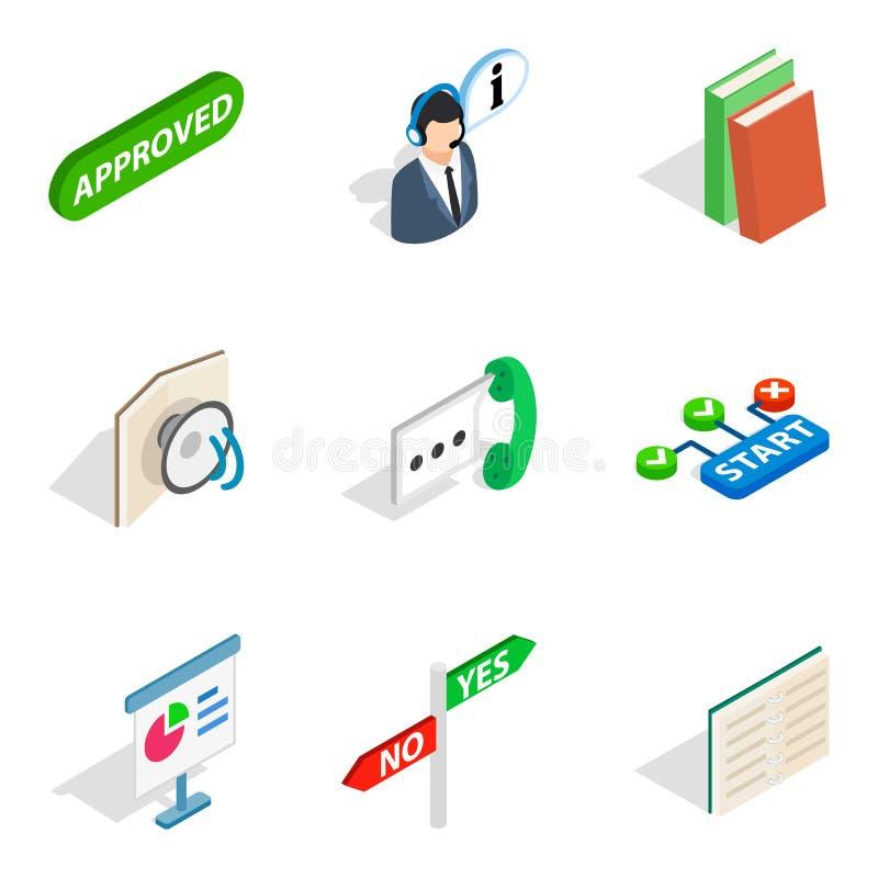 Special unit icons set, isometric style stock illustration