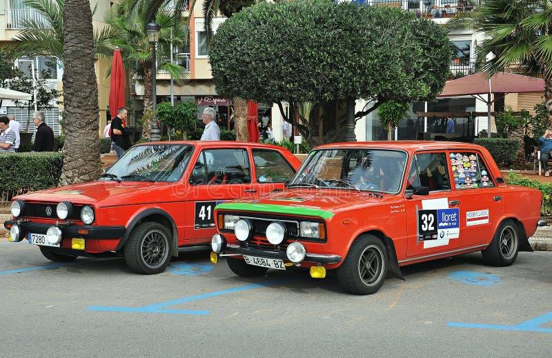 Special Volkswagen Golfs M 1 und Seats 124 lizenzfreies stockfoto