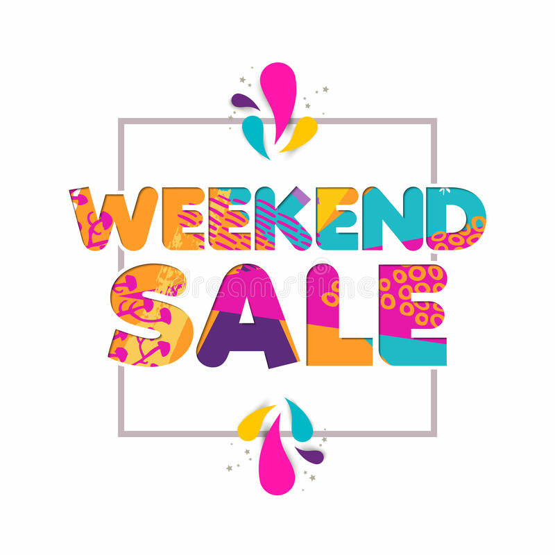 Selling Weekend: Special Weekend Sale Quote For Business Discount Stock