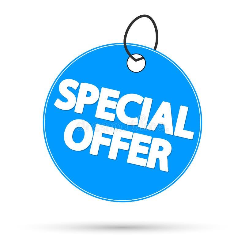 Speciale aanbieding, de ontwerpsjabloon van de verkoopmarkering, kortingsbanner, vectorillustratie stock afbeeldingen