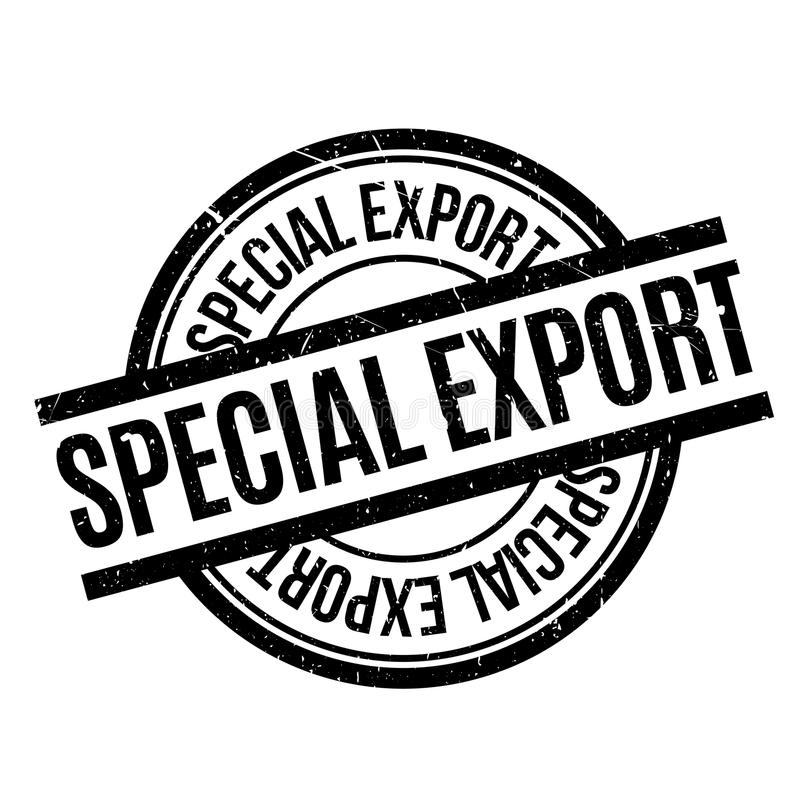 Speciale de Uitvoer rubberzegel royalty-vrije illustratie