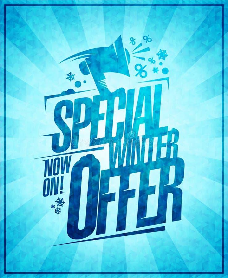 Speciale de winteraanbieding, de bannerconcept van de de winterverkoop stock illustratie