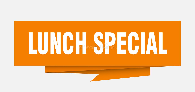 Speciale del pranzo illustrazione di stock