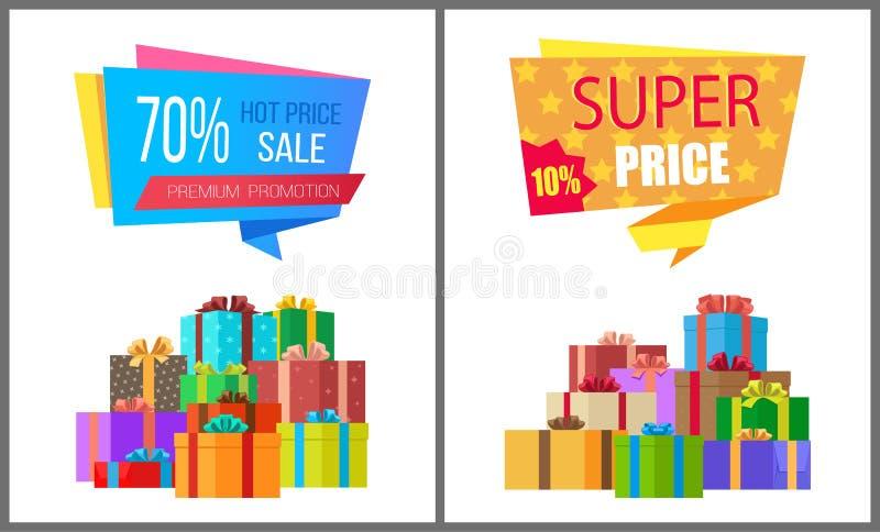 Speciale eccellente di vendita calda di prezzi di promozione premio illustrazione vettoriale