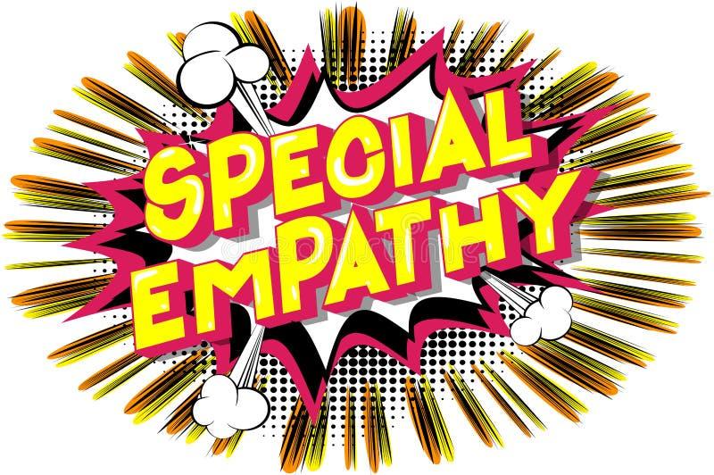 Speciale Empathie - de Grappige woorden van de boekstijl vector illustratie