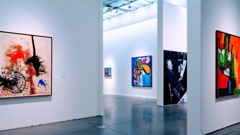Speciale Hans Hoffman-tentoonstelling bij het Nationale Museum van Geschiedenis en Kunst in Luxemburg royalty-vrije stock afbeelding
