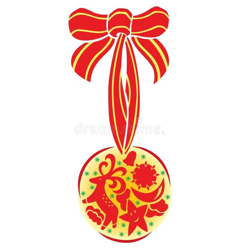Speciale het Ornament van Kerstmis royalty-vrije illustratie