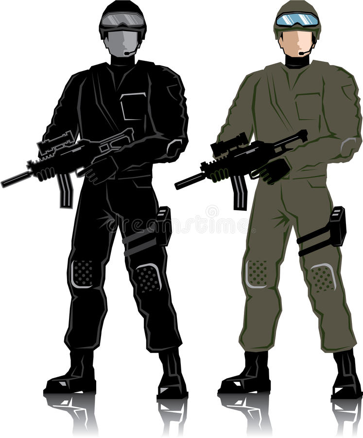 Speciale Militair vector illustratie