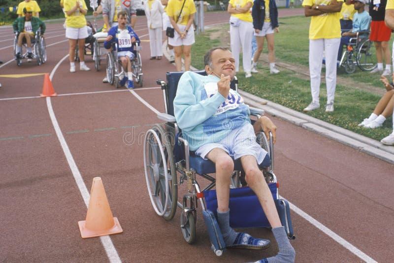 Speciale Olympics Atleet In Rolstoel Redactionele Fotografie