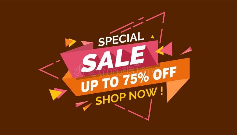Speciale Verkoop, het Kleurrijke Etiket van de Verkoopbanner, Promo-Verkoopkaart stock illustratie