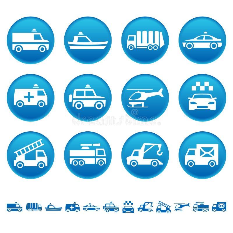 Speciale vervoerspictogrammen stock illustratie