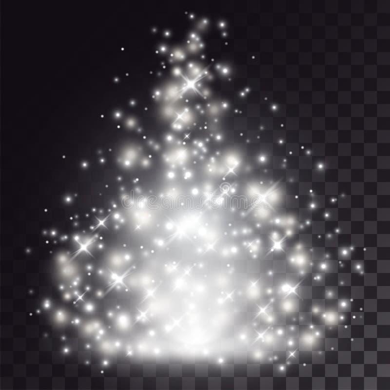 Specialeffekt för ljus för vit jul royaltyfri illustrationer