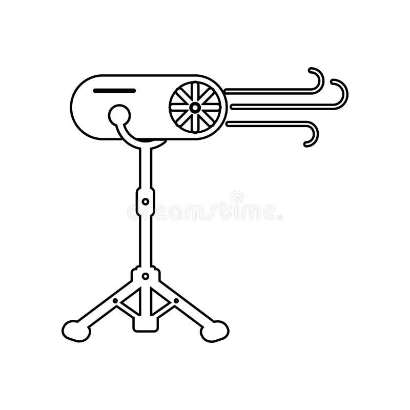specialeffektsymbol E ?versikt tunn linje symbol f?r website vektor illustrationer