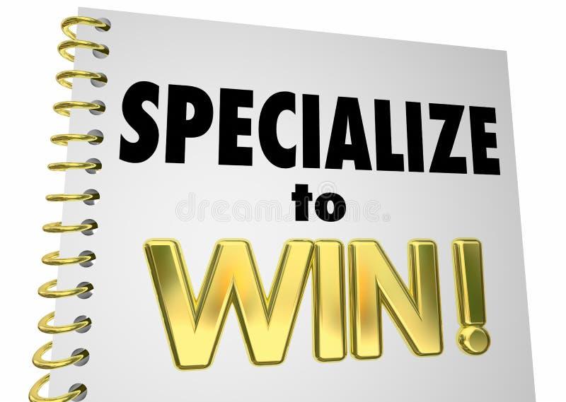 Specialisera för att segra fördelsspecialiteten Knowledg för den konkurrenskraftiga kanten royaltyfri illustrationer