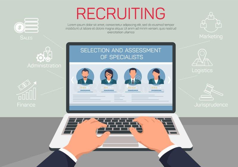 Specialista di reclutamento di valutazione e di selezione royalty illustrazione gratis
