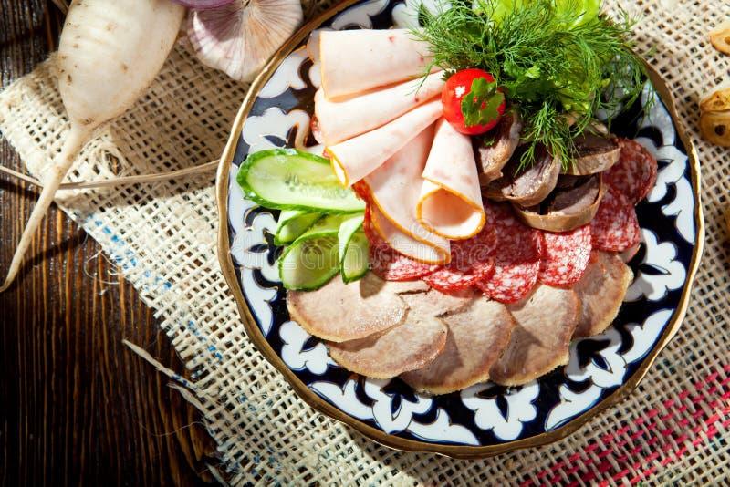 Specialità gastronomiche della carne fotografie stock
