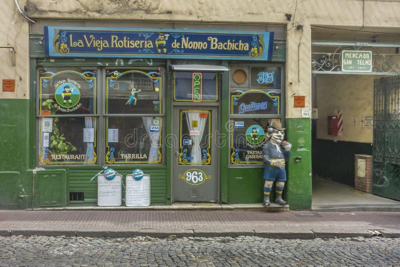 Specialità gastronomiche tradizionali in San Telmo Buenos Aires fotografia stock libera da diritti