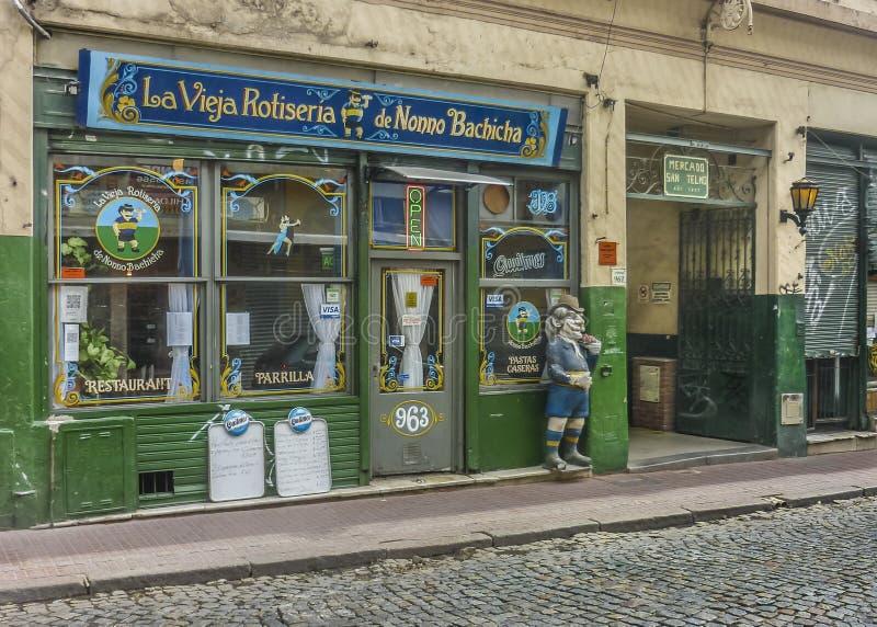 Specialità gastronomiche tradizionali in San Telmo Buenos Aires immagini stock