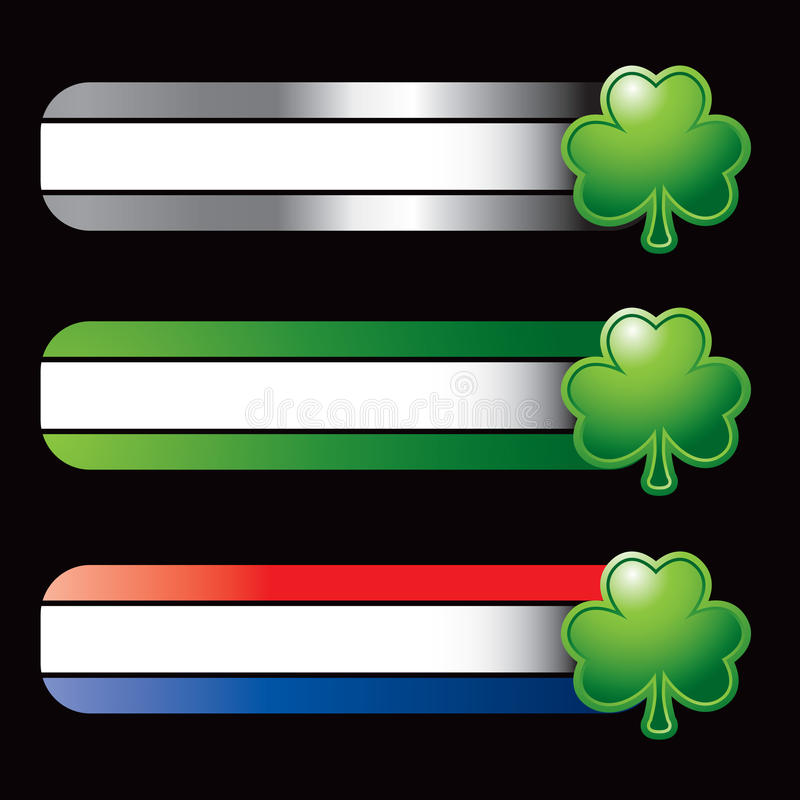 Download Specialized Banners With Green Shamrock Stock Vector - Image: 12625775