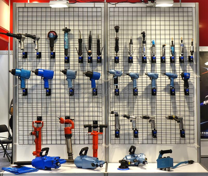 Specialized Power Tools are on Display royalty free stock photography