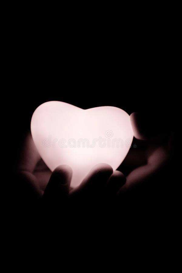 Specially prepared heart for Valentine`s Day royalty free stock images