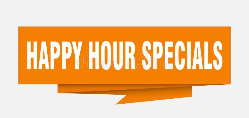 Specials de la hora feliz stock de ilustración