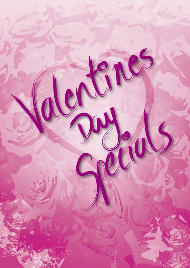 Specials del día de tarjetas del día de San Valentín stock de ilustración