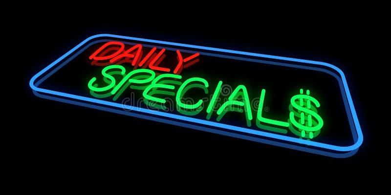 Specials diarios stock de ilustración
