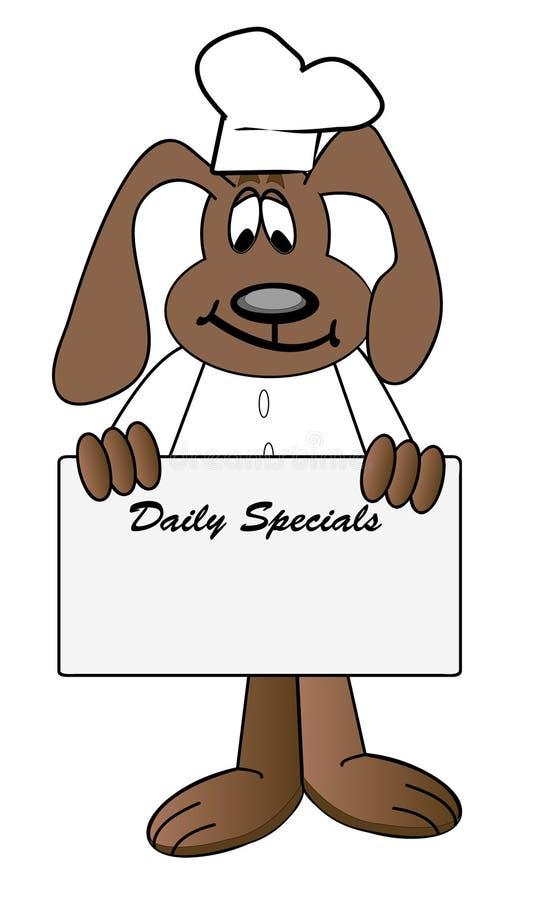 Specials diarios del restaurante libre illustration