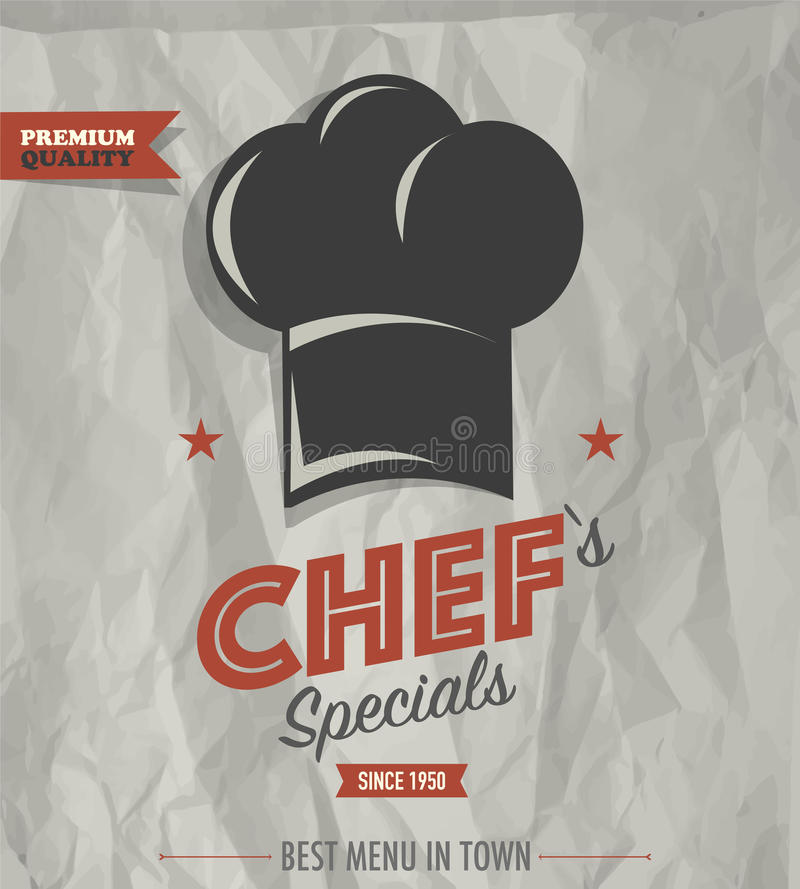 Specials van de de barchef-kok van de restaurantkoffie vector illustratie