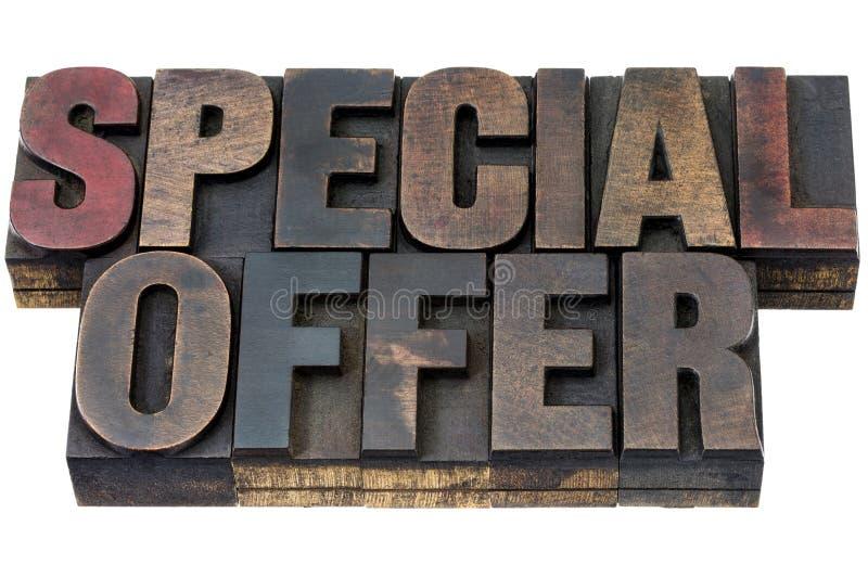 Specialt erbjudande i wood typ royaltyfria foton