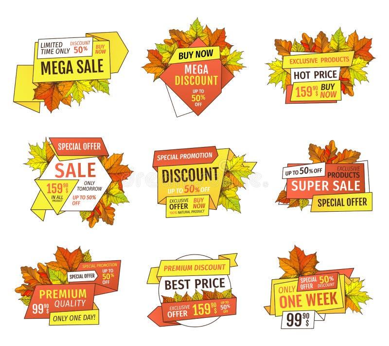 Specialt erbjudande Sale endast i morgon femtio procent av royaltyfri illustrationer