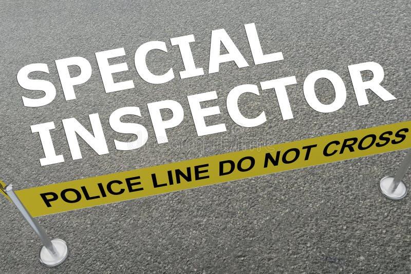 Specialt inspektörbegrepp stock illustrationer