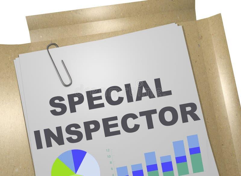 Specialt inspektörbegrepp vektor illustrationer