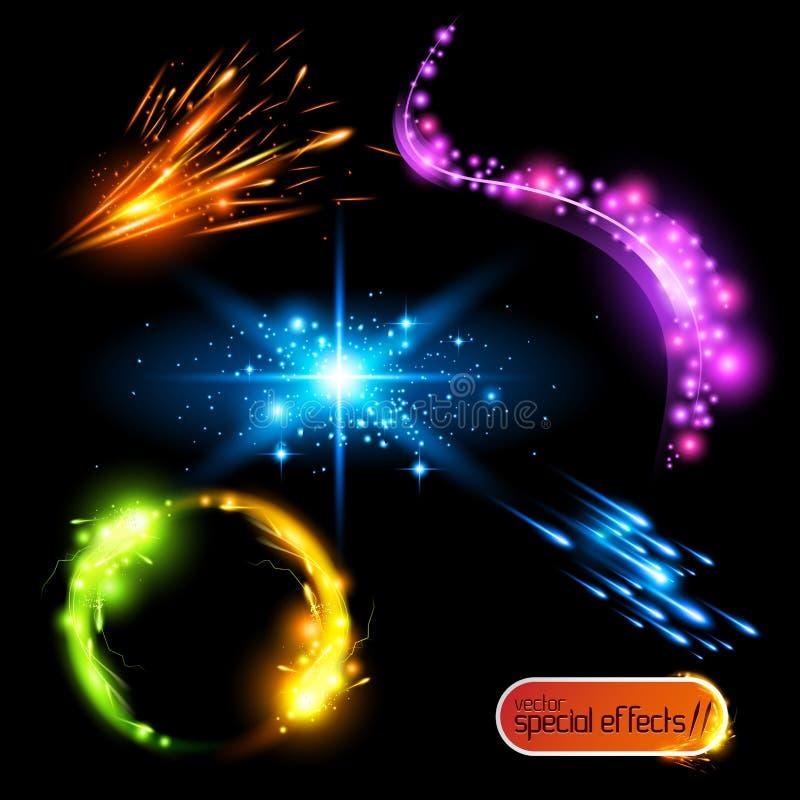specialvektor för 2 effekter vektor illustrationer