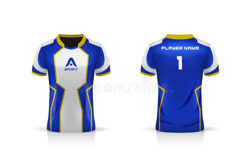 Specification Soccer Sport Esport Gaming T Shirt Jersey Template Mock Up Uniform Vector Illustration Stock Vector Illustration Of White Esports 185137799