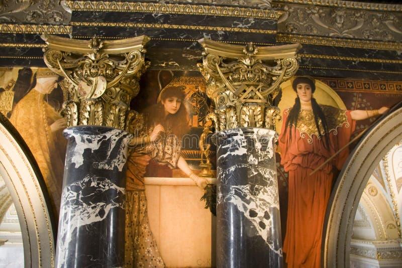 KLIMT-fresco i KHM_detail royaltyfria foton