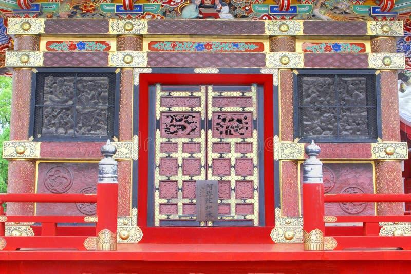 Specificerar den garneringbuddistShinshoji templet, Narita, Japan arkivfoto