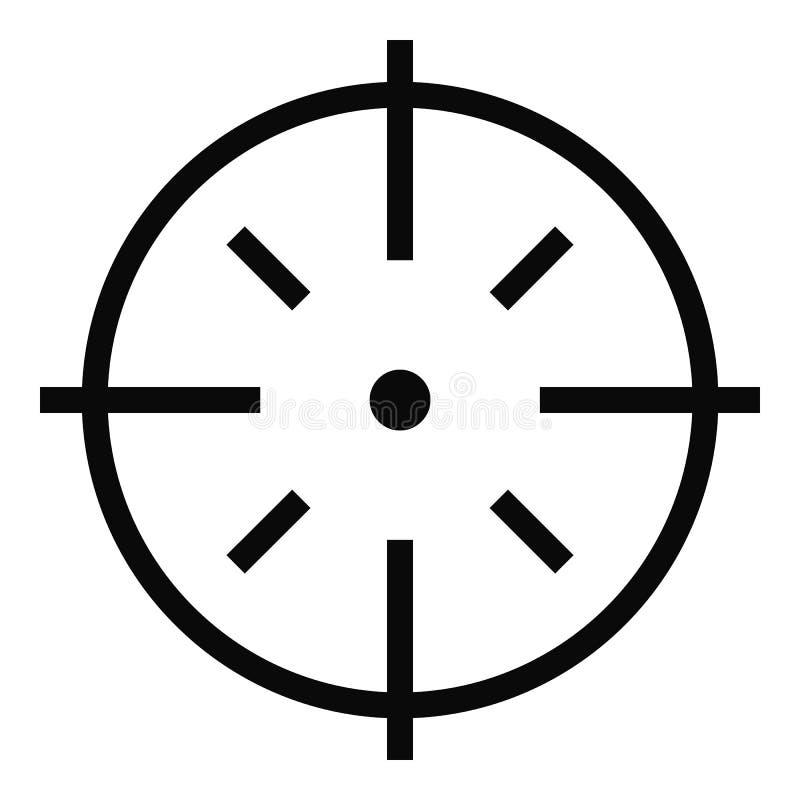 Specifiek doelpictogram, eenvoudige stijl royalty-vrije illustratie