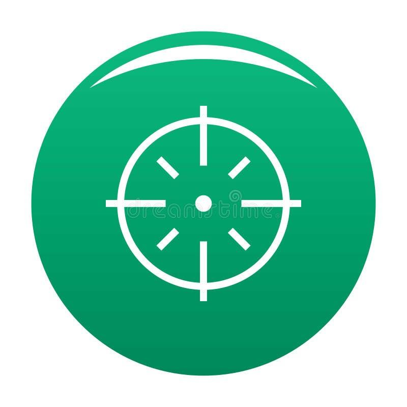 Specifiek groen doelpictogram stock illustratie