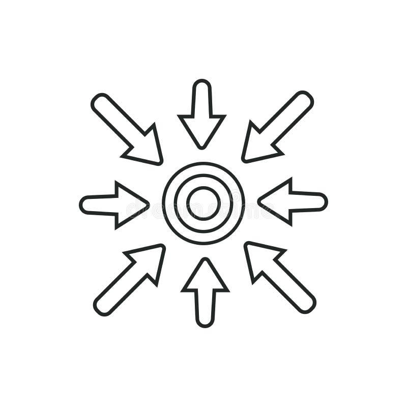 Specifiek Pictogram die Keus tonen: Specifiek sleutelwoordenidee vector illustratie