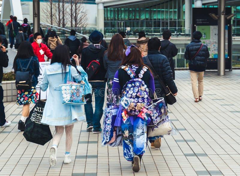 Specifieke Japanse ventilator die `-Uta dragen geen koopwaar van prins-Sama ` stock foto's