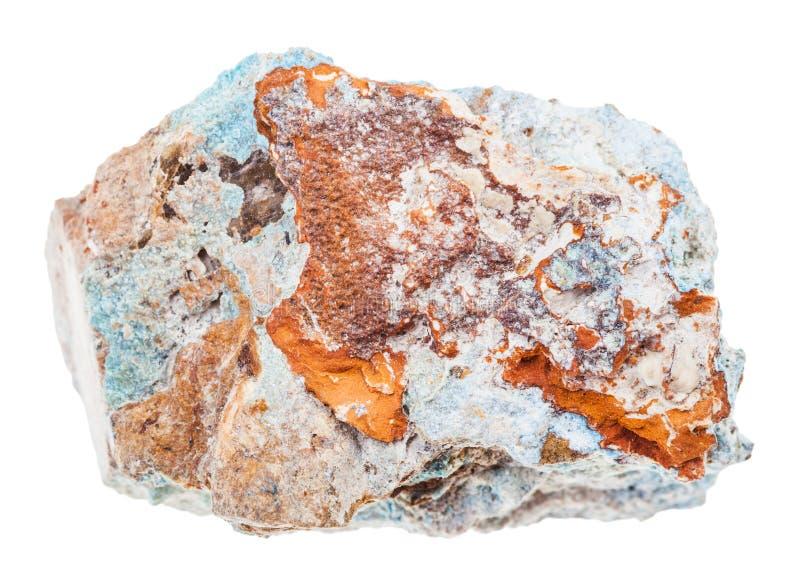 Specimen of Scorodite stone Arsenic ore isolated stock image