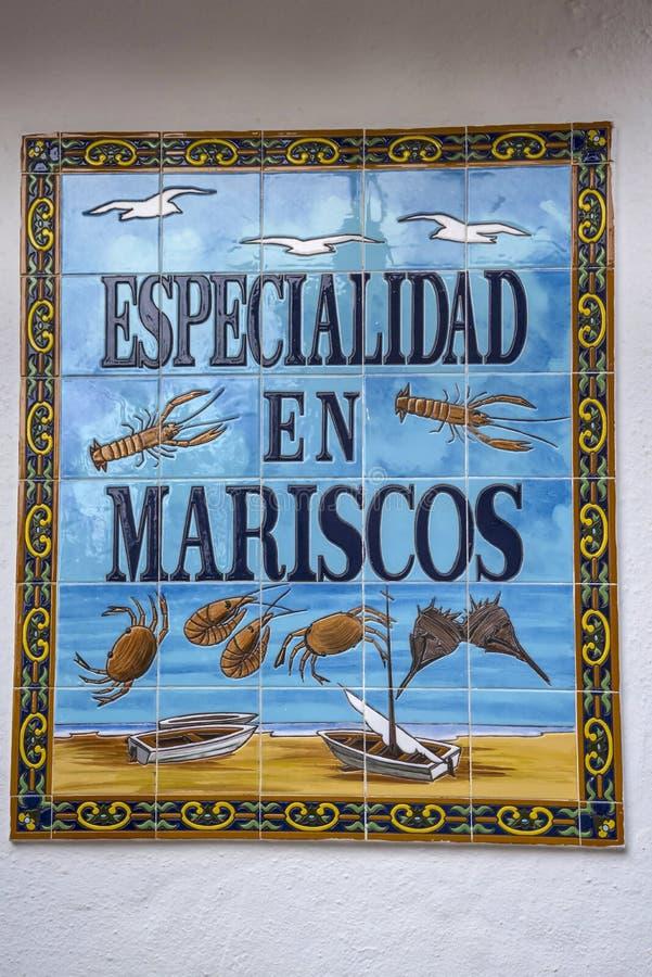 Specjalizować się w ryba sklepie w Marbella w Hiszpania zdjęcie stock
