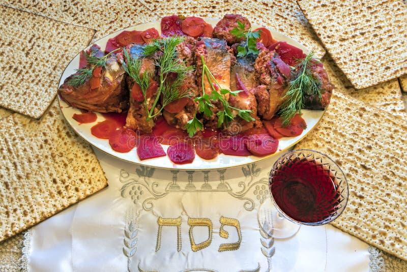 Specjalizuje si? atrybuty ?ydowscy Passover Seder wakacje obraz royalty free