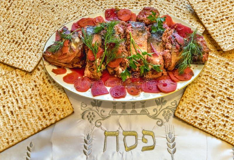 Specjalizuje si? atrybuty ?ydowscy Passover Seder wakacje zdjęcia stock