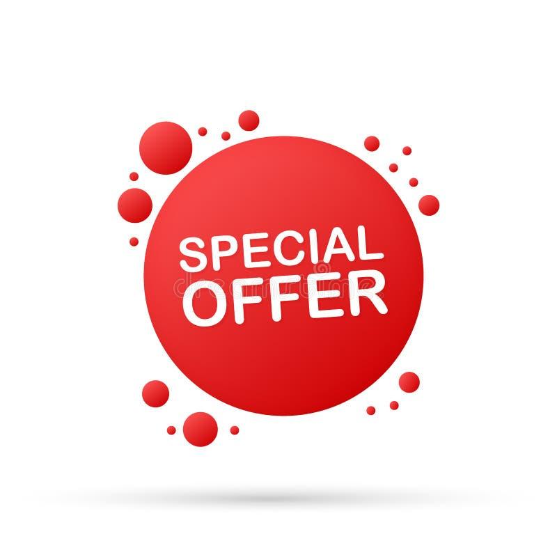 Specjalna oferta kolor etykietki rabata sprzedaży ikona Element dyskontowa etykietka Premii ilości graficznego projekta ikona rów ilustracja wektor