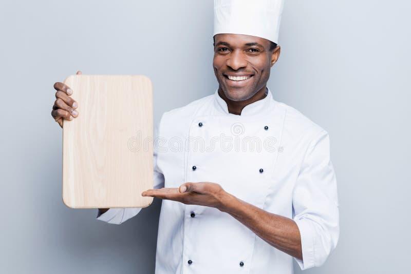 Specjalna oferta od szefa kuchni zdjęcia royalty free